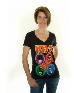 Kiss - Russion Roulette Junior V-Neck T-Shirt