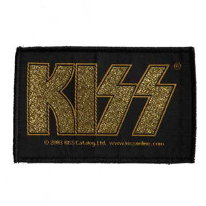 Kiss - Gold Logo Patch